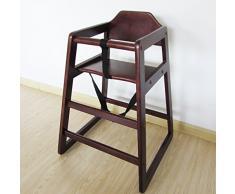 Couleur noyer empilable Chaise haute en bois Chaise haute bébé maison et commerciaux Restaurants