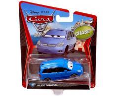 Disney Pixar Cars 2 Alex Vandel # 45 - Voiture Miniature Echelle 1:55