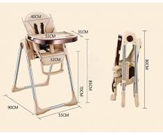 chaise haute Chaise à manger chaise à manger pour enfants, une lampe portable multifonctionnelle peut s'asseoir table à lit bébé chaise pliante pour bébé chaise haute poupon bois