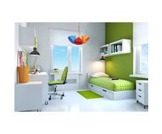 Suspension de style moderne pour enfants avec plafonnier en acryl multicolore, pour chambre d'enfant 5 ampoules Ø60cm non-incl. E27 5x40W 230V