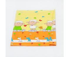 Taie housse de couette édredon env.120x90 parure de lit literie pour bébé enfant (dessin: brebis et trefles_jaune)