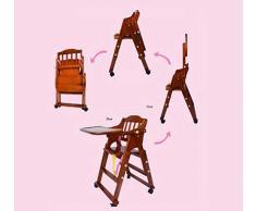 Siège d'appoint sain, chaise de bébé pliante portable, chaise de bébé multifonction en bois massif, pour enfants de 6 mois à 6 ans,B
