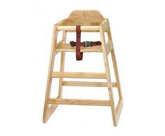 Chaise haute en bois naturel | Infant Chaise haute, chaise haute pour enfant, enfant de chaise, siège bébé – Idéal pour un usage commercial ou domestique