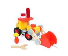 Janod - J06495 - Véhicule Miniature - Camion Bulldozer