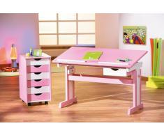 Bureau junior inclinable coloris rose et blanc