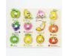 Puzzle en Bois Enfant Jeu éducatif Fruits Jouet Cadeau pour Bébé