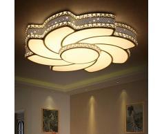 Dimmable avec télécommande LED Cristal Plafonnier Moderne Fleur plafond Lampe de salon Plafond Chambre Bureau Salle de travail Pièce pour enfant Lustre Éclairage de plafond 24W Ø50CM 1680 lumens