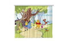 AG Design fCS xl/4306 rideau voilage pour chambre d'enfant motif winnie l'ourson de disney