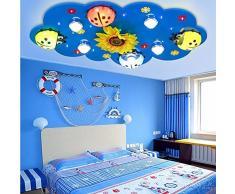 Chambre d'enfant Lustre Creative Cartoon Garçon Fille maternelle Mignon Chambre Led Lumière & éclairage Terrain de 80 * 10 * 50cm, Rose
