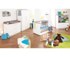 Chambre bébé Tuula blanche et marron
