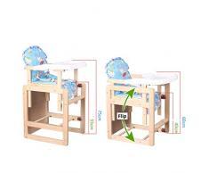 ZHAOYONGLI Chaise De Bébé Chaise Haute Bébé Chaise De Salle À Manger Multifonctionnelle En Bois Massif Créatif Forte Durable Longue durée de vie (Couleur : Couleur du bois, taille : Basic model)