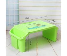 Table en Plastique, Chambre à Coucher Lumineuse Etude de Table à Coucher Table d'ordinateur Portable Chambre d'enfant Table à Jouets Boîte de Rangement Plusieurs Couleurs Table Multifonction