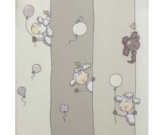 Linder 0206 /20/49806/375FR Rideau Enfant à Oeillets Mouton Beige 135 x 260 cm