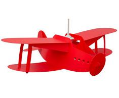 R&M Coudert Lampe de Plafond Suspension Chambre Enfant Avion Rouge