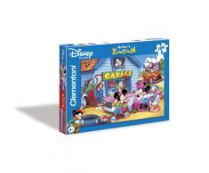 Clementoni - Puzzle pour enfant - L'univers de Mickey: Le garage - 104 pièces