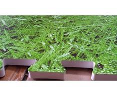 Effet herbe vert tapis en mousse souple EVA Tapis D'Exercice Tapis de sol carrelage Tapis Puzzle de gym Garage Bureau pour enfant Tapis de sol Tapis D'Aérobic Tapis de yoga 8 Mats- 32 Sq Feet