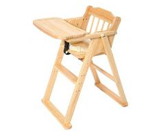 Chaise Haute Bébé Chaise Haute Évolutive Chaise Multifonctionnelle Pliante Portable ZHANGQIANG (Couleur : Couleur du Bois, Taille : Large)
