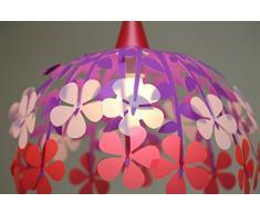 R&M Coudert Lampe de Plafond Suspension Chambre Enfant Bouquet de Fleurs Rose