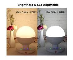 Lampe de Chevet Enfant Portables LED Tactile Multifunctional Intelligent,Veilleuse Deco Chambre, Lampe de Camping pour la Maison, À Usage Intérieur et Extérieur - Blanc