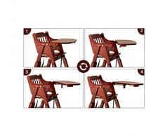 Siège d'appoint Healthy Care, chaise bébé portable, chaise pliante multifonctionnelle en bois massif, pour enfants à partir de 6 mois - 6 ans,A