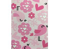 Universel comfi-cush en mousse visco-élastique Poussette réversible – Design Love Birds Rose