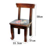 Chaises Chaise en bois pour enfants en bois massif chaise de bébé Chaise en bois mignon petite chaise arrière chaise de jardin Tabourets ( Couleur : E )