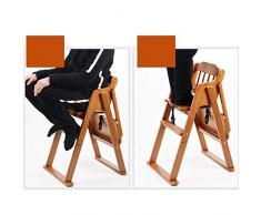 ZHAOYONGLI Chaise De Bébé Chaise Haute Bébé Chaise De Repas Portable Pliable En Bois Massif Créatif Forte Durable Longue durée de vie (Couleur : Brown color, taille : Large)