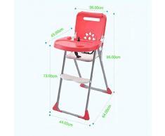 Axiba Chaise haute multifonctionnelle chaise pliante bébé pour enfants manger siège