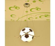 Cartoon Football Pendentif LED Creative lampe chambre d'enfant chambre enfants garçons chambre lustre