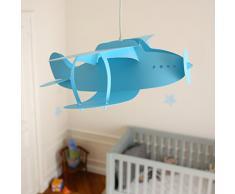 R&M Coudert Lampe de Plafond Suspension Chambre Enfant Avion Turquoise
