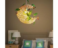 KAIRRY Chambre filles lustre lune chambrette enfant chaud luminaires de style pastoral fleurs