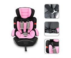 Babyfield - Siège auto rehausseur rose pour bébé groupe 1/2/3 - Siège sécuritaire de 9kg à 36kg