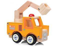 Jouet en bois naturel peint Camions bois