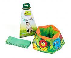 ComfyDo Portable Voyage Pot de Toilette Bébé Jungle Fun