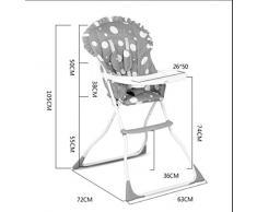 Chaise pliante pour enfants bébé Chaise bébé Chaise haute multifonction Portable Dinner Table ( couleur : Rose )