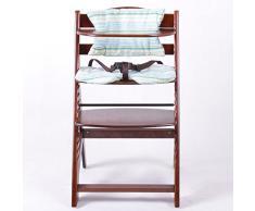 Chaise Haute en bois Ajustable Chaise bébé Escalier chaise haute BRUN HC2533-D02 G