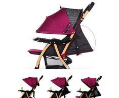 ZUOANCHEN Poussette Pliante Légère pour Bébé, Poussette Portable Jusqu'à 25 Kg avec Chariot Couché pour Enfant (Violet / Bleu) ( Color : Violet )