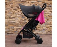 TOOGOO Version amelioree de visiere Couverture de pare-soleil de chariot de poussette de bebe Pour accessoires de siege de voiture de Buggy Casquette Capuche pour protection de soleil Noir