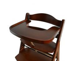 Chaise Haute en bois Ajustable Chaise bébé Escalier chaise haute BRUN HC6551-D02vert colore