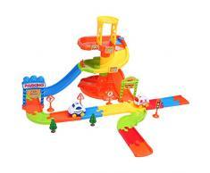 Smibie Circuit de voiture Jouet d'enfant Garage de voiture Jeu de voitures de course Maxi Garage Educatif-27pcs