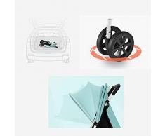 Poussette, poussette convertible 2 en 1 légère, grand espace de rangement, suspension de roue, harnais à 5 points, série antichoc de voyage, poussette haute visibilité et poussette réversible, pousset