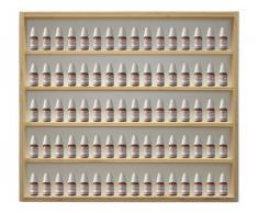 V32 - Vitrine murale 60 cm x 52 cm x 6 cm collection miniature collecteur tableau d'affichage train pion petit objet jouet enfant mini nain de jardin schtroumpf vitres en plexiglas clair meuble rangement étagère armoire placard