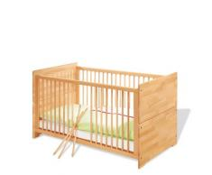 Chambre bébé Natura huilé : Lit évolutif, commode, armoire PINOLINO