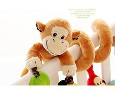 VALUE MAKERS Lit bébé Jouet - singe mignon de design du Nouveau Jouets - Activité Siège bébé lit d'auto Jouets - enrouler autour Berceau Jouets - Poussette jouets pour bébé 0-36 mois