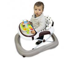 Monsieur Bébé ® Trotteur bébé évolutif musical, pliable et réglable en hauteur - Norme NF EN 1273