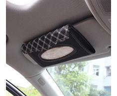 niceeshop(TM) Voiture Auto Visor Tissulaire Sac de Rangement (Noir et Blanc)