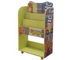 Étagère à livres pour enfant motif animaux de safari - Dim : H 82 x L 48.5 x P 24 cm -PEGANE-
