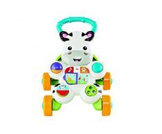 Fisher-Price Mon Trotteur Zèbre Parlant pour apprendre à marcher avec musique et activités déveil, pour bébé de 6 mois et plus, version française, DLD96