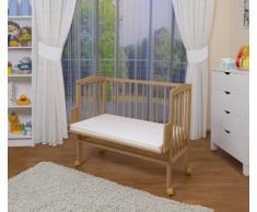 WALDIN Lit cododo berceau tout équipé pour bébé - non traité - 6 coloris disponibles,blanc