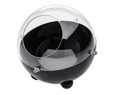 Koziol Distributeur de Capsules Orion Small, Boîte à Capsules, Rangement, Noir, 2026101